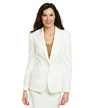 Anne Klein® Long Sleeve Peak Collar Jacket