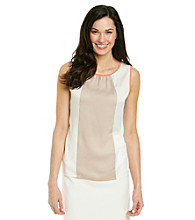 Nine West® Sleeveless Scoopneck Colorblock Cami