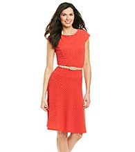 Anne Klein® Classic Dot Swing Dress