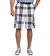 555 Turnpike™ Men's Big & Tall Blue Plaid Cargo Short
