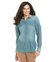 Nine West Vintage America Collection® Petites' Lara Denim Button Shirt