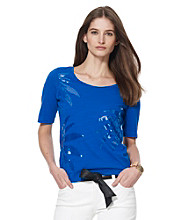 Jones New York Sport® Petites' Sequin Scoop Tee
