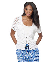 Jones New York Sport® Petites' Crochet Cardigan