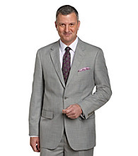 Traveler Technology™ Men's Big & Tall Grey Stepweave 2-Button Suit Jacket