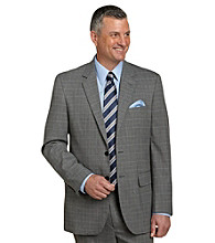 Traveler Technology™ Men's Big & Tall Grey Tattersall 2-Button Suit Jacket