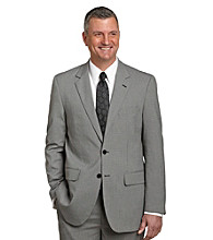 Traveler Technology™ Men's Big & Tall Black/White 2-Butto Mini Houndstooth Suit Jacket