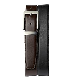 Harbor Bay® Men's Big & Tall Black/Brown Reversible Leather Dress Belt