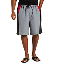 555 Turnpike™ Men's Big & Tall Grey Colorblock Swim Trunk