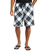 555 Turnpike™ Men's Big & Tall Neon Black Plaid Cargo Swim Trunk