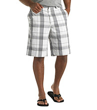555 Turnpike™ Men's Big & Tall White/Grey Plaid Short