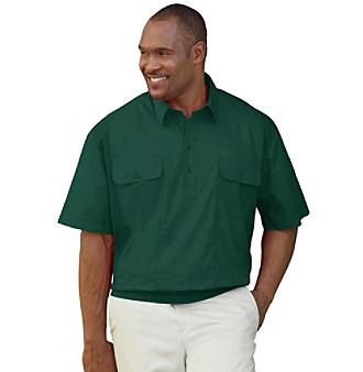 Canyon Ridge Men 39 S Big Tall Banded Bottom Mesh Panel Shirt