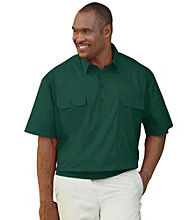 Canyon Ridge® Men's Big & Tall Banded-Bottom Mesh Panel Shirt