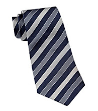 Gold Series™ Men's Big & Tall Grey Silk Stripe Tie