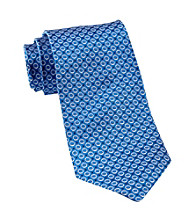 Gold Series™ Men's Big & Tall Blue Textured Dot Silk Tie