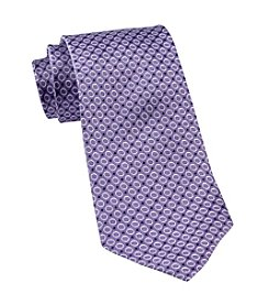 Gold Series™ Men's Big & Tall Purple Textured Dot Silk Tie
