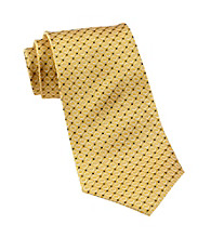 Gold Series™ Men's Big & Tall Yellow Textured Dot Silk Tie