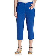 Jones New York Sport® Plus Size Five-Pocket Twill Crop Pant