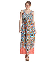 Oneworld® Plus Size Embellished Maxi Dress