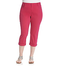 Jones New York Signature® Plus Size Chelsea Cuffed Five-Pocket Capri
