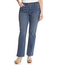 Jones New York Signature Plus Size Lexington Straight Leg Jean