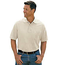 Harbor Bay® Men's Big & Tall Short Sleeve Pocket Pique Polo