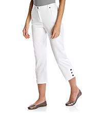 Ruby Rd.® Petites' Button Hem Capri