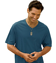 Harbor Bay® Men's Big & Tall Short Sleeve V-Neck Wicking Jersey Tee