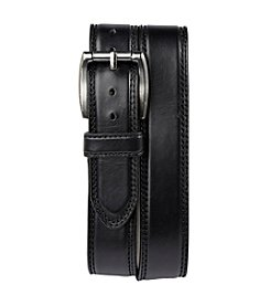 Harbor Bay® Men's Big & Tall Black Wide Leather Jean Belt