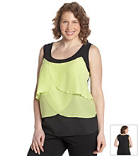 AGB® Plus Size Tiered Tank