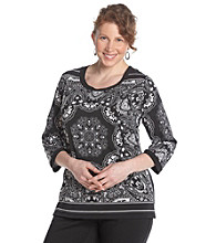 Notations® Plus Size Printed Tunic