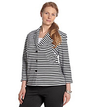 Alfred Dunner® Plus Size Striped Jacket