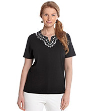 Alfred Dunner® Plus Size Beaded Knit Top