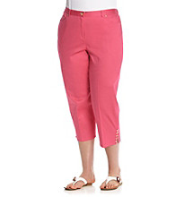 Ruby Rd.® Plus Size Embellished Sateen Capri