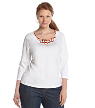 Ruby Rd.® Plus Size Embellished Top