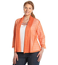 Ruby Rd.® Plus Size Shawl Cardigan