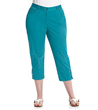 Ruby Rd.® Plus Size Twill Capri