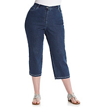 Ruby Rd.® Plus Size Denim Capri