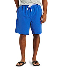 Island Outfitters® Men's Big & Tall Blue Solid Cargo Swim Trunk