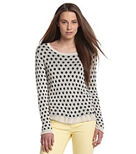 Kensie® Drapey Dots Sweater