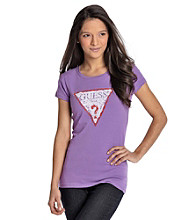 Guess Sleeve Sequin Logo Tee