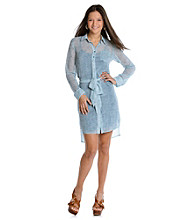 Guess Sheer Shirt Dress
