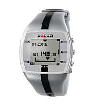Polar FT4M Silver/Black Male Heart Rate Monitor Watch