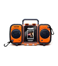 Eco Terra Orange Waterproof Boombox Case for iPhone® and MP3 Players
