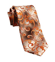 Van Heusen® Men's Big & Tall Orange United Paisley Silk Tie