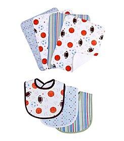 Trend Lab Little MVP 3 Pack Bib and Burp Cloth Set