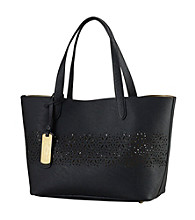 Lauren Ralph Lauren Chantilly Laser Cut Shopper
