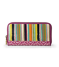 Fossil® Bright Stripe Key-Per Zip Clutch