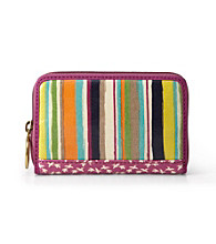 Fossil® Bright Stripe Key-Per Zip Multifunction
