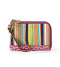 Fossil® Bright Stripe Key-Per Wristlet