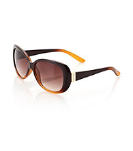 Calvin Klein Brown Amber Glow Rectangle Sunglasses